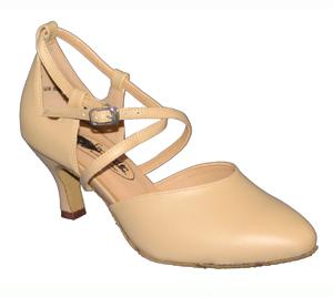 Kristen 2.5 Tan Leather Dance Shoe